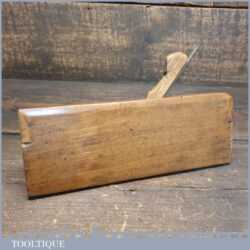 Antique Side Bead Beechwood Moulding Plane With Boxwood Insert