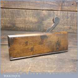 Antique 18th Century John Rogers 1734-1765 Square Ovolo Beechwood Moulding Plane