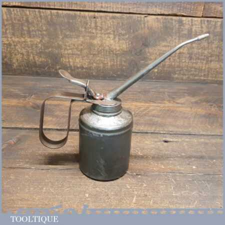 Vintage Pump Action Oil Can Stamped No: 52 On The Base - Good Condition