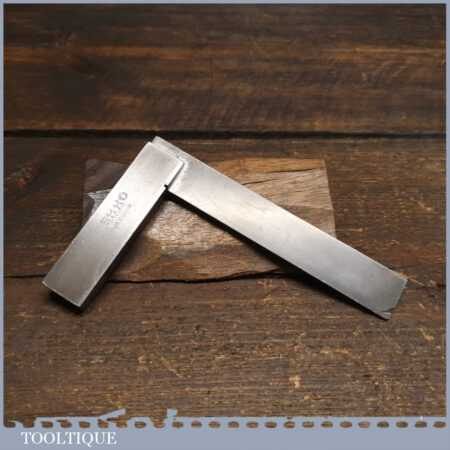 """Vintage Moore & Wright Engineer's Precision Set Square 4 ¼"""" - Good Condition"""