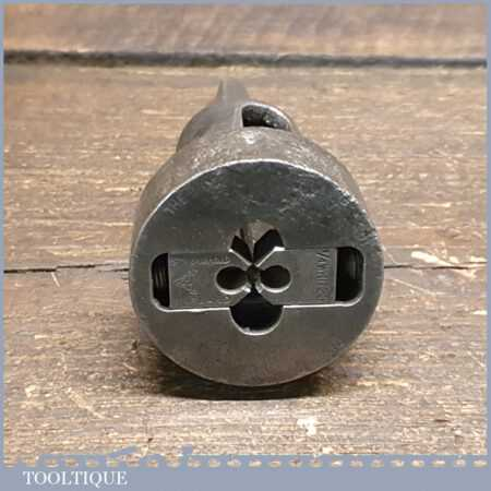 """Vintage Stronghold Die Holder For Brace For ¼"""" Whitworth Dies - Good Condition"""