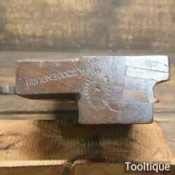 "Antique Tatham & Darracott of Ashford ½"" Side Bead Beechwood Moulding Plane"
