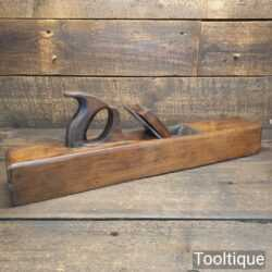 "Vintage R. Routledge Carpenter's 22"" Beechwood Trying Plane - Lapped Flat"