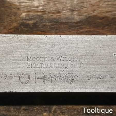 """Vintage Moore & Wright Engineer's Precision Set Square 4 ¼"""" Blade - Good Condition"""