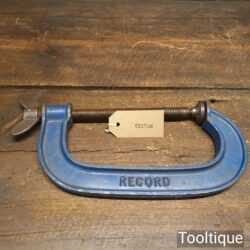 "Vintage Record 6"" Woodworking G Clamp - Good Condition"