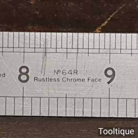 """Vintage 24"""" Rabone Chesterman No 64R Metric & Imperial Steel Ruler - Good Condition"""