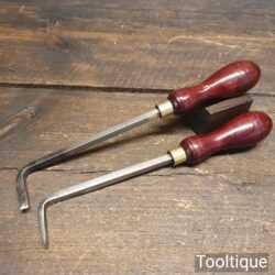 Vintage Woodturners Internal Angles Chisels Re-Handled Ready For Use