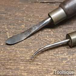 2 No: Vintage Leatherworker's Modelling Tools - Good Condition