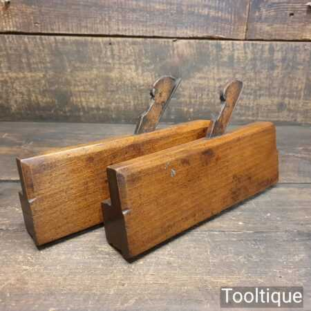 Pair Of Antique John Moseley & Son No 1 & 2 Sash Ovolo Moulding Planes