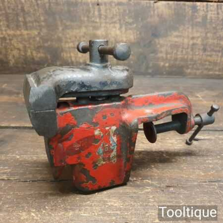 """Vintage Rededa Portable Bench Vice With 2 ½"""" Jaws - Good Condition"""