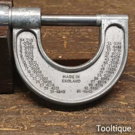 "Vintage DCMT 0""-1"" Imperial Micrometer - Good Condition"