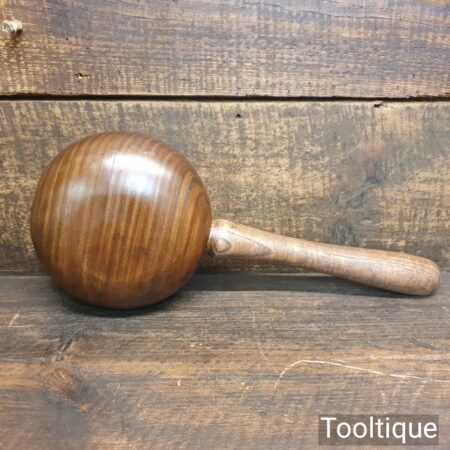 Handmade Saddlers Leatherworking Lignum Vitae Collar Stuffing Mallet - Ash Handle