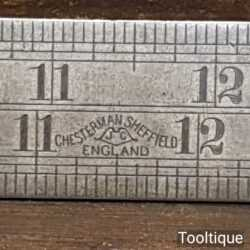 """Vintage 24"""" Chesterman No: 612D Imperial Single Sided Contraction Ruler"""