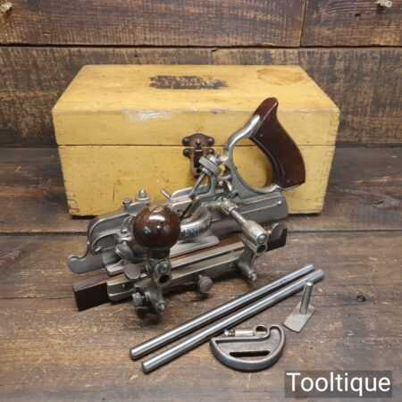 Superb Boxed Vintage Stanley Sweetheart USA No: 45 Combination Plough Plane