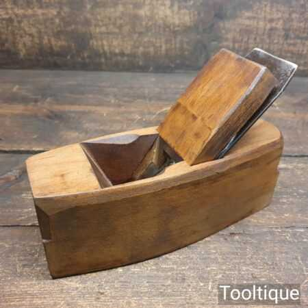 Vintage Master Carpenter's Beechwood Smoothing Block Plane - Refurbished