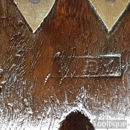 """Vintage Sorby Carpenters 12"""" Mahogany & Brass Try Square - Good Condition"""
