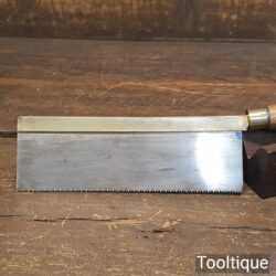 "Vintage Gentleman's 6"" Brass Back Saw 14 TPI - Sharpened Refurbished"