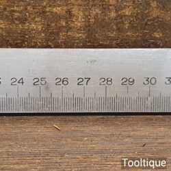 Vintage 50cm 0.7 Single Sided Steel Metric Contraction Ruler - Good Condition