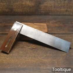 "Vintage Marples carpenters 9"" rosewood and brass try square in good used condition. Note: Tested for square."