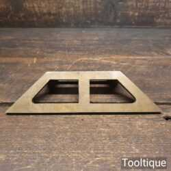 """Vintage 7"""" Solid Brass Mitre Template - Good Condition"""