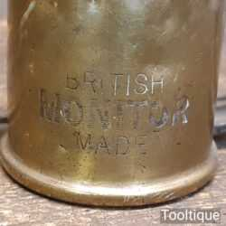 Unusually Small Vintage Brass Blowtorch Blow Lamp By Monitor