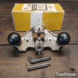 Vintage Boxed Stanley England No: 71 Hand Router Plane - Good Condition