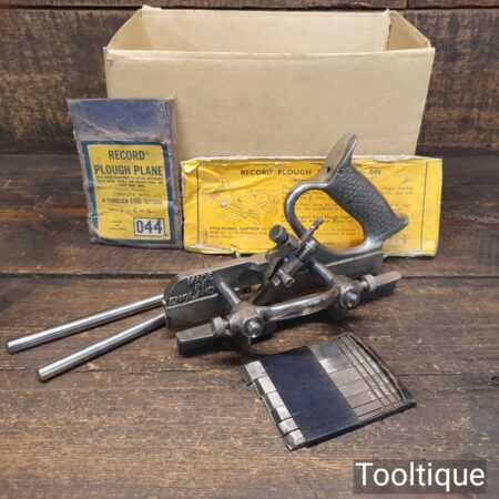 Vintage Boxed Record No: 044 Plough Plane - Fully Refurbished Ready To Use