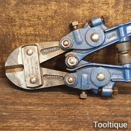 """Vintage Pair of 10"""" Record No 610 Bolt Cutters - Good Condition"""
