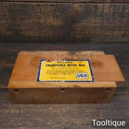 Vintage Record Adjustable Mitre Box Made in England - Good Condition