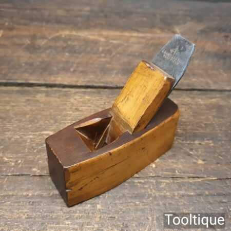 """Scarce Luthiers Miniature 4"""" Boxwood Block Plane - Good Condition"""