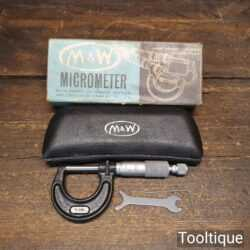 Vintage Boxed Moore & Wright No 965 Micrometer - Good Condition