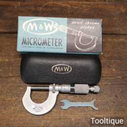 Vintage Boxed Moore & Wright No 961M Micrometer - Good Condition
