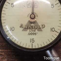 Vintage Arnold Fully Jewelled Dial Test Indicator - Good Condition