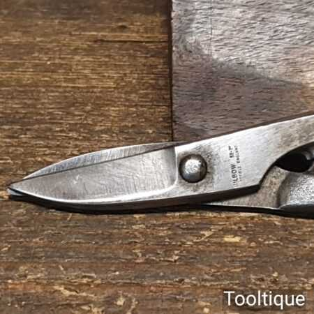 """Small Vintage Pair Of 7"""" Engineers Gilbow Tin Snips - Sharpened"""