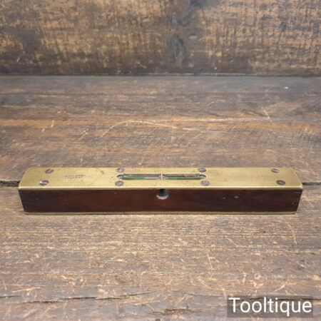 """Vintage 8"""" Rosewood Double Brass Warranted Correct Spirit Level - Good Condition"""