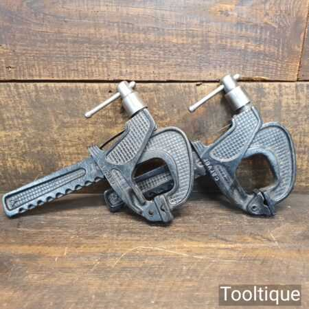 """Vintage Refurbished Pair Of T186 6"""" Carver Clamps - Good Condition"""
