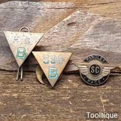 Vintage c WW2 Handley Page SC Aviation Aircraft Enamel Pin Badge & 2 Other Badges