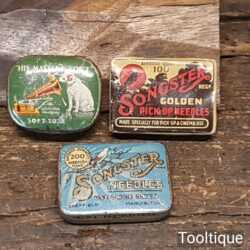 Assorted Vintage Gramophone Pick Up Needles His Masters Voice' & Songster Tins.