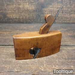 """Vintage Luthiers Miniature 5"""" Beechwood Plane Boat Shaped Body - Good Condition"""