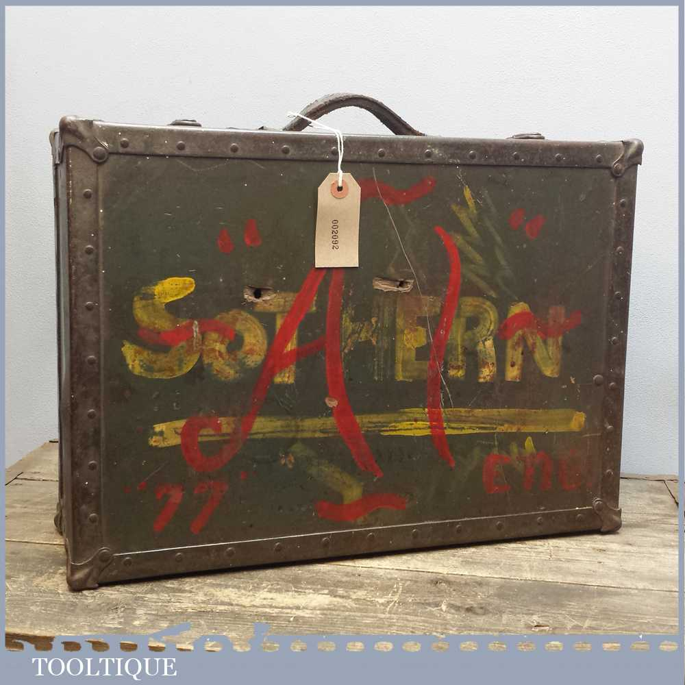 Vintage WW2 AAF Sothern Flight Case For Sgt H Fizelle - Militaria
