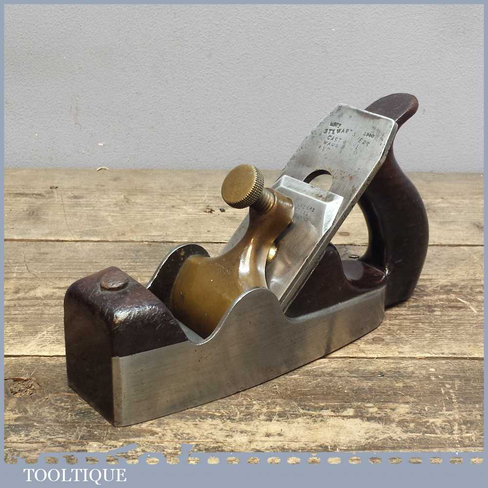 Antique Alex Spiers Of Ayr Rosewood Infill Smoothing Plane – All Original