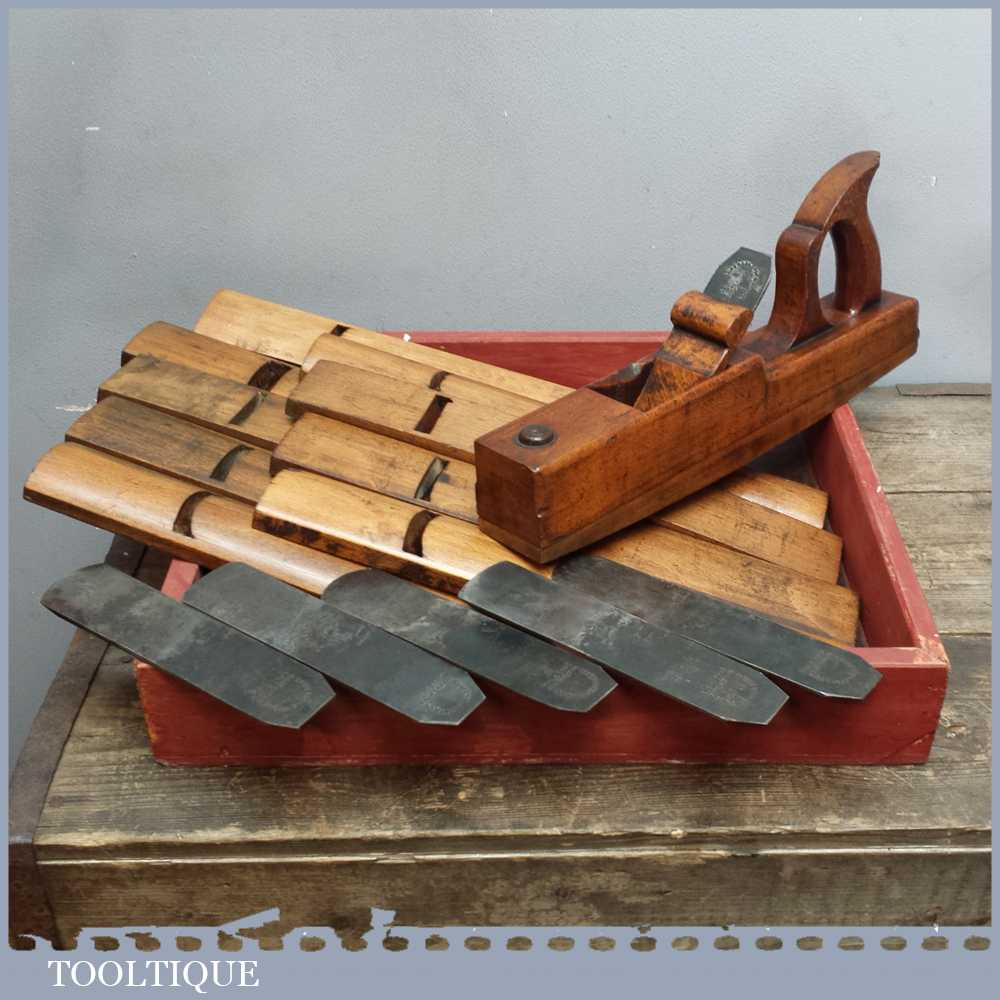 Antique Pattern Makers Jack Plane With Interchangeable Soles With Selection Of Irons
