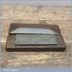 """Vintage Hard 6"""" Long 2"""" Wide Natural Oil Sharpening Stone - Boxed"""