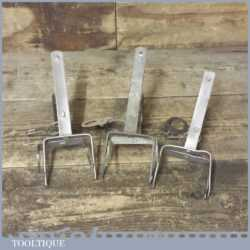 3 No: Vintage Mole Traps In Good Condition