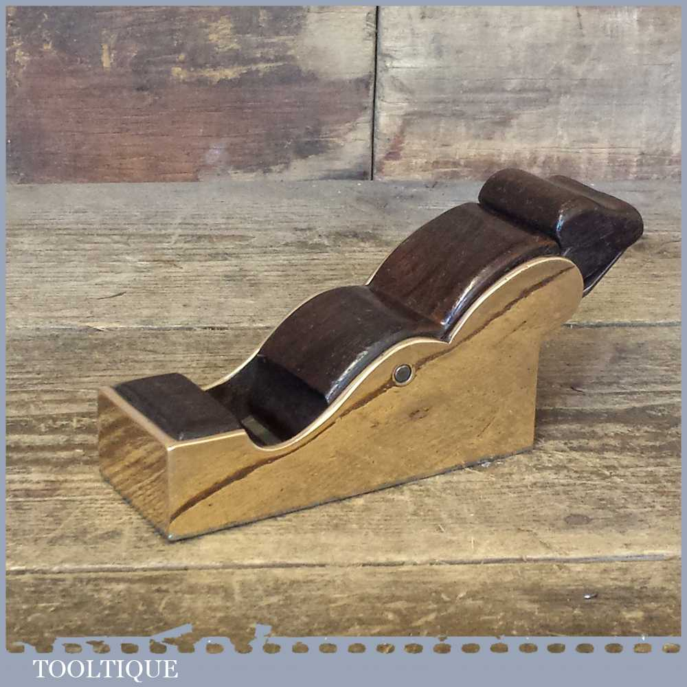 Beautiful Antique Gunmetal & Rosewood Infill Chariot Plane - Lovely Condition