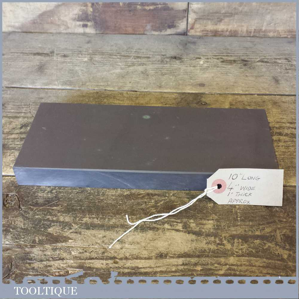 """Extra Large 10"""" x 4"""" x 1"""" Wide Very Fine Grade Natural Welsh Slate Honing Oil Stone"""