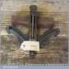 """Vintage 9"""" Small Cast Iron Wood Or Metal Corner Frame Vice Clamp - Good Condition"""