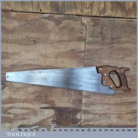 """Vintage 24"""" Sheffield Superior Warranted Cross Cut Saw - Refurbished And  Sharpened"""