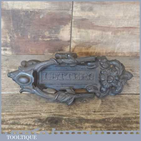 Antique Reclaimed Letterbox And Door Knocker By Kenrick No: 259B - Good Condition