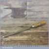 "Vintage Pattern Makers 9/16"" John Bull Firmer Gouge Paring Chisel - Fully Refurbished"